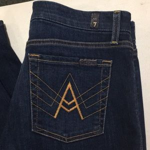 "NWOT 7FAM ""A POCKET"" JEANS WITH GREAT STRETCH!"